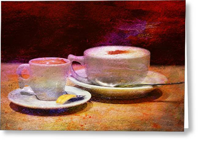 Coffee For Two Greeting Card by Laura Fasulo