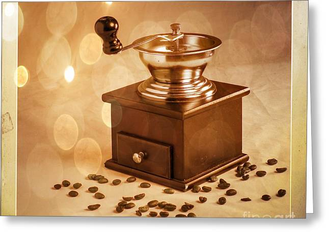 Coffee Grinder 2 Greeting Card by Donald Davis