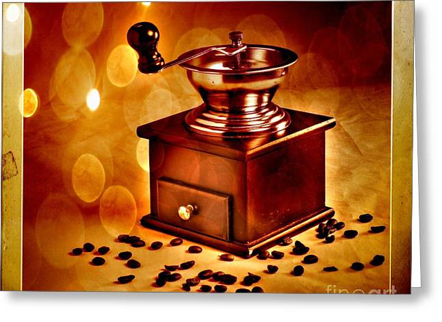 Coffee Grinder 3 Greeting Card by Donald Davis