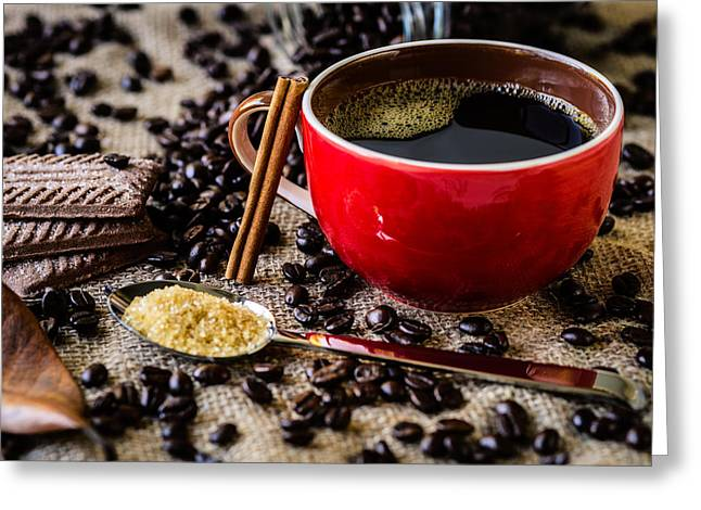 Coffee II Greeting Card by Marco Oliveira