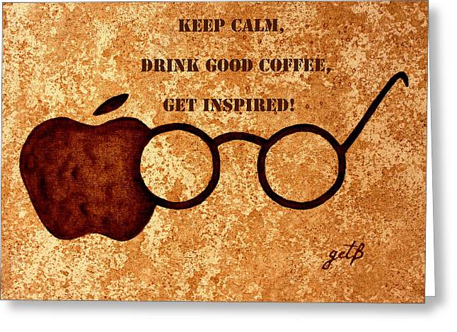 Coffee Lovers Quote 2 Greeting Card