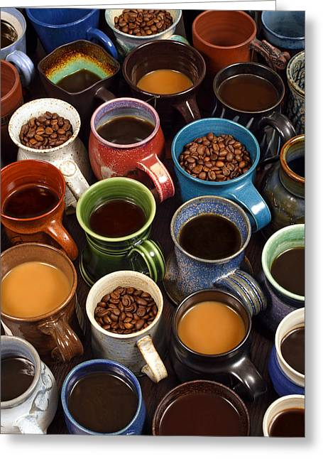 Coffee Mugs Greeting Card