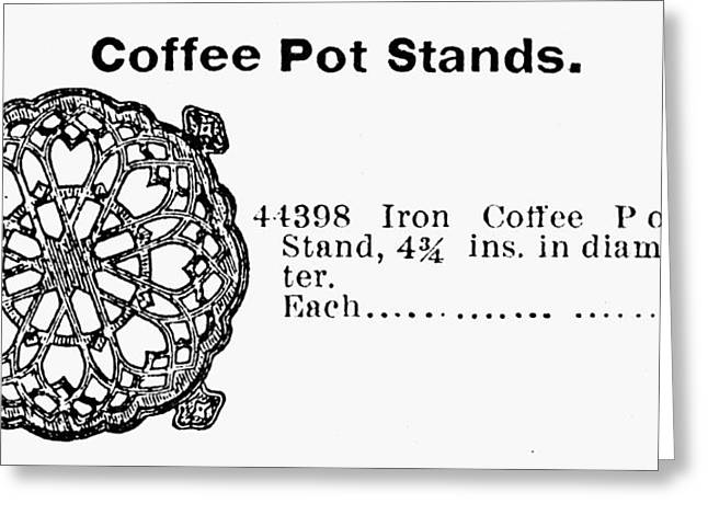 Coffee Pot Stand, 1895 Greeting Card by Granger