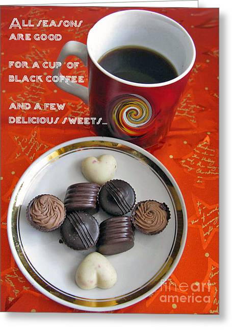 Greeting Card featuring the photograph Coffee Season by Ausra Huntington nee Paulauskaite