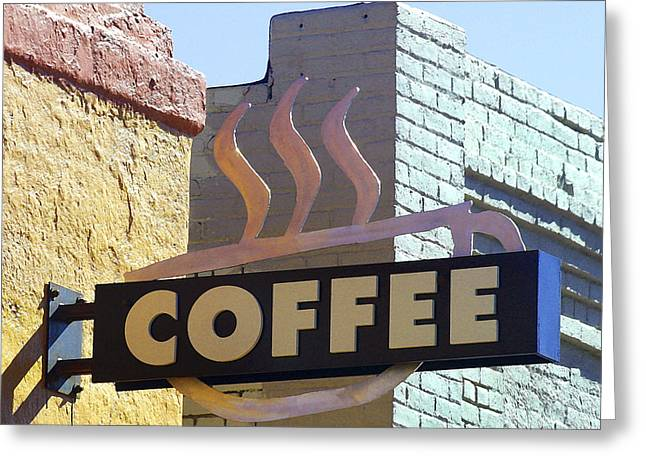 Coffee Shop Greeting Card by Art Block Collections