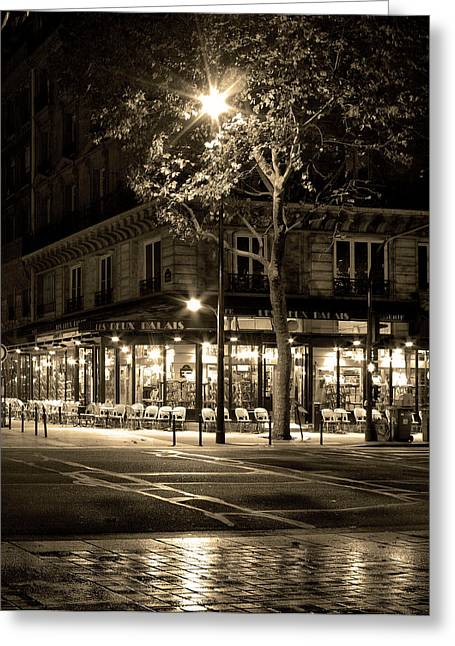 Coffee Shop In Paris Greeting Card