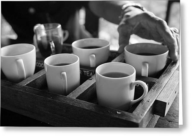 Greeting Card featuring the photograph Coffee Tasting - Bali by Matthew Onheiber