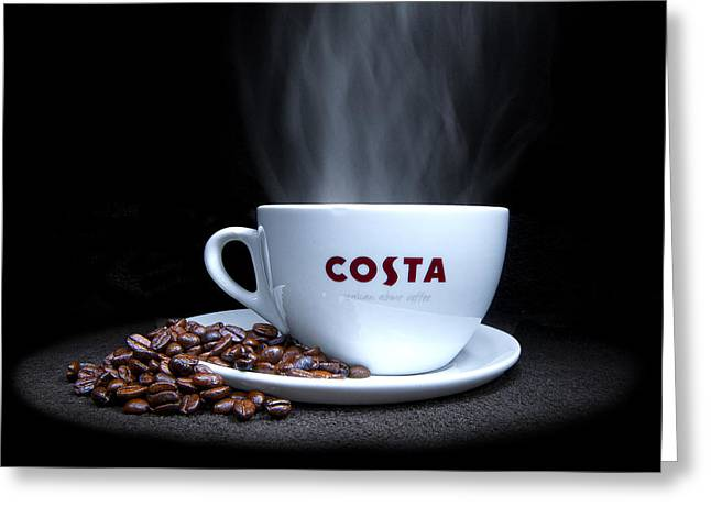 Coffee Time Greeting Card by Rob Guiver