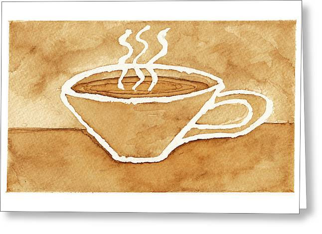 Coffee Greeting Card by Tricia Griffith