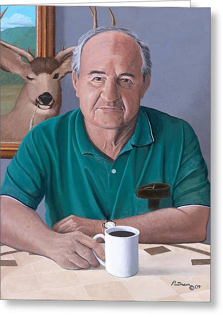 Coffee With Bob Friend Of Nature Greeting Card