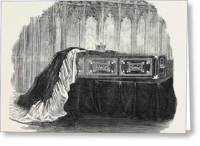 Coffin Of Her Late Royal Highness The Duchess Of Kent Greeting Card