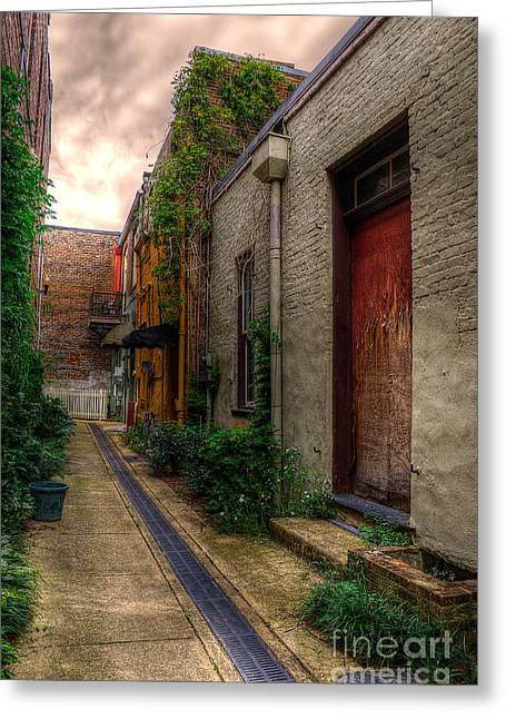 Greeting Card featuring the photograph Coggin's Alley Way by Maddalena McDonald