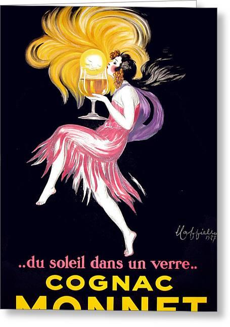 Cognac Monnet Advertising Poster Greeting Card