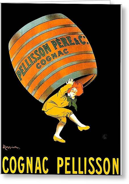 Cognac Pellisson Advertising Poster Greeting Card