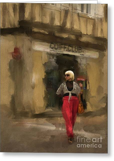 Coiffure Club Greeting Card by Terry Rowe
