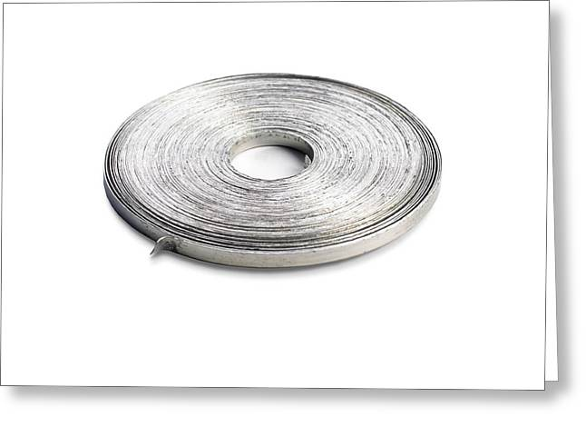 Coil Of Magnesium Ribbon Greeting Card