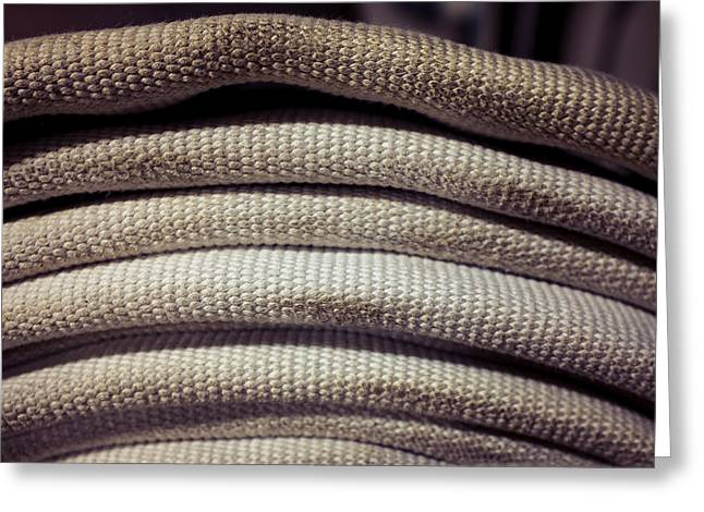 Coiled Fire Hose Profile Greeting Card