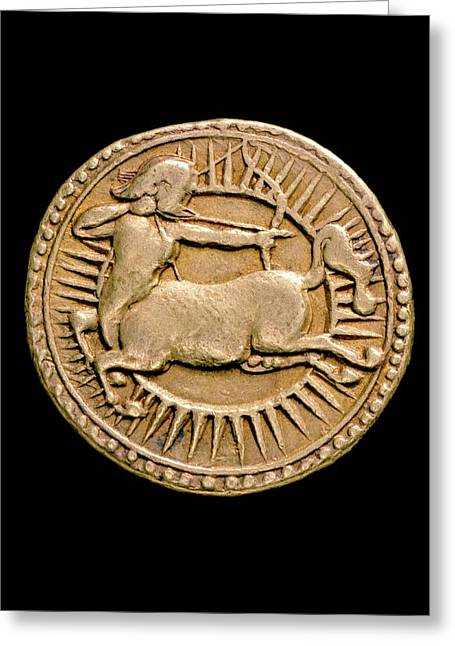 Coin Of Jahangir Greeting Card by Ashmolean Museum/oxford University Images