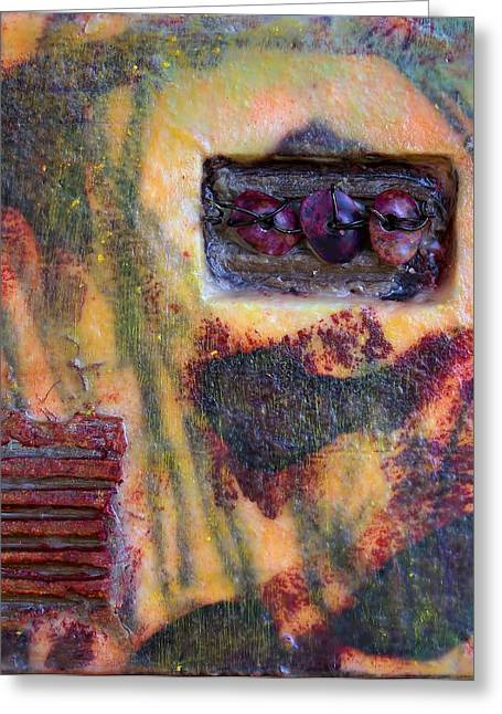 Coin Of The Realm Encaustic Greeting Card by Bellesouth Studio