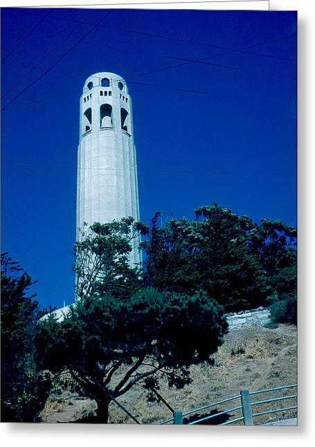 Coit Tower 1955 Greeting Card by Cumberland Warden