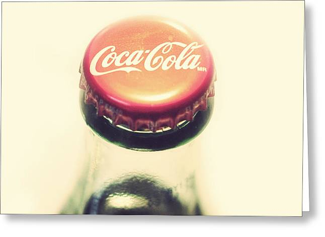 Coke Bottle Cap Greeting Card by Terry DeLuco