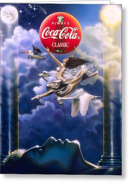 Coke Dreams Greeting Card
