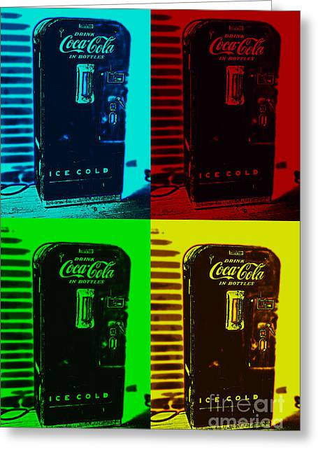 Coke Poster Greeting Card by Kevin Fortier