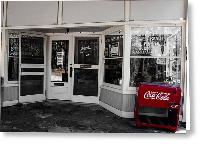 Greeting Card featuring the photograph Coke by Randy Sylvia