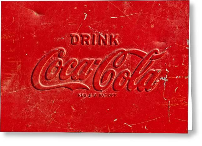 Coke Sign Greeting Card by Jill Reger