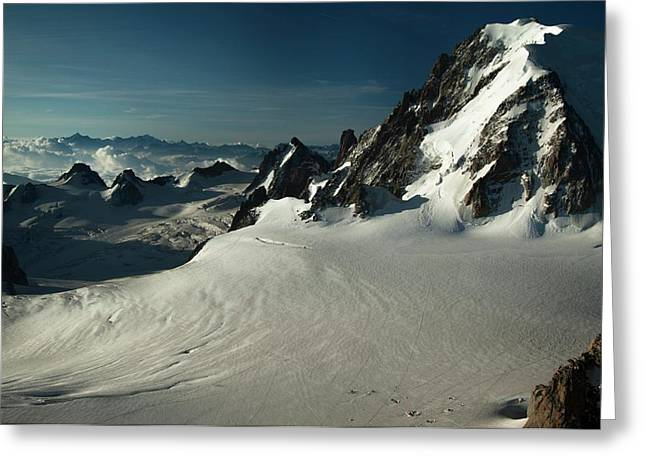 Col Du Midi Greeting Card by Duncan Shaw