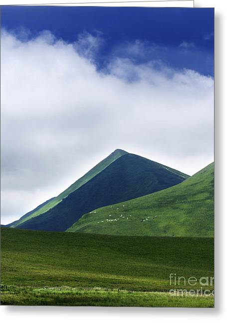 Col Of Croix Morand. The Sancy Massif. Auvergne. France. Greeting Card by Bernard Jaubert
