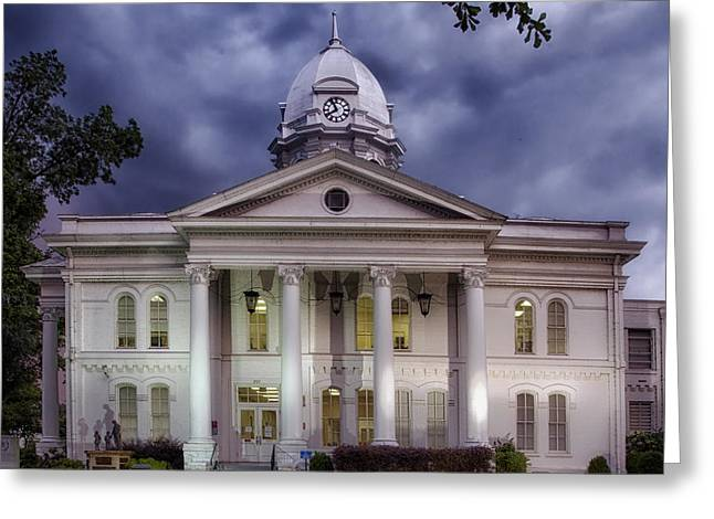 Colbert Country Courthouse In Tuscumbia Alabama Greeting Card