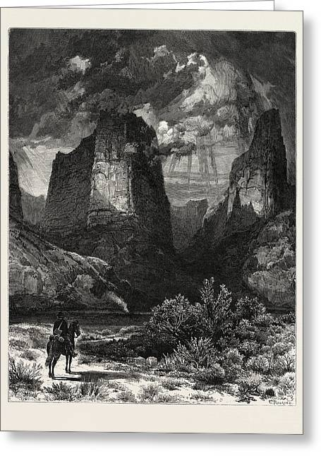 Colburns Butte, In Kannarro Canyon. Thomas Moran February 12 Greeting Card by American School