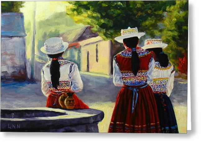 Colca Valley Ladies Greeting Card