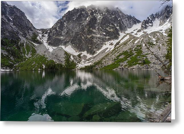 Colchuck Lake Clear Waters Greeting Card by Mike Reid