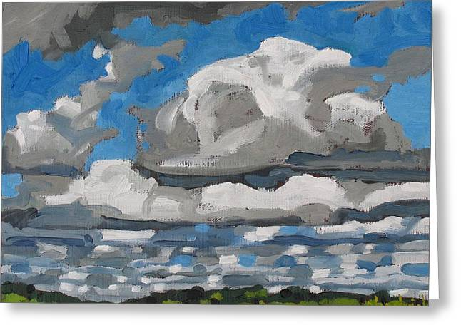 Cold Air Mass Cumulus Greeting Card by Phil Chadwick