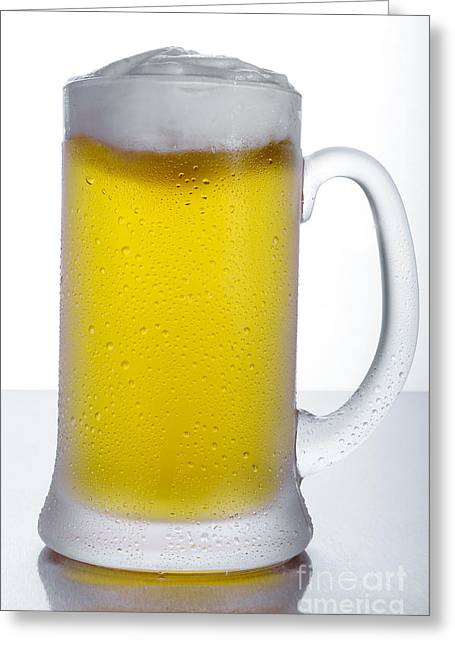 Cold Beer 2 Greeting Card by Ken Lamb