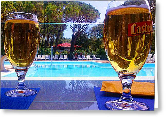 Cold Beers Greeting Card by Giuseppe Epifani