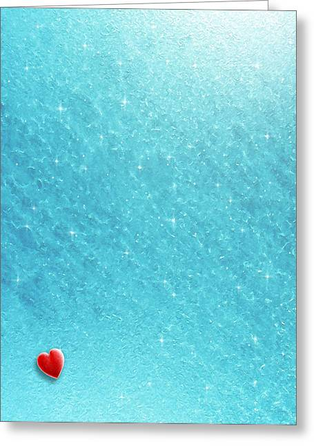 Cold Cold Heart Greeting Card by Cristophers Dream Artistry
