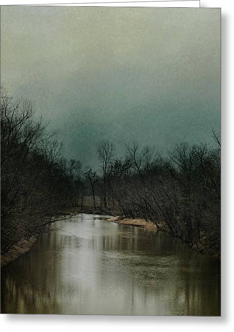 Cold Day At The River Greeting Card by Jai Johnson