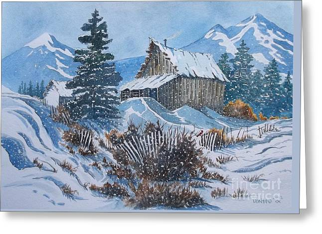 Cold  Greeting Card by Don Hand