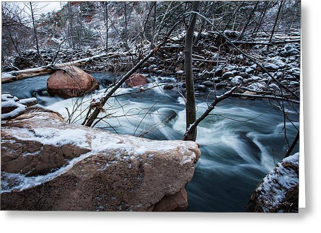 Cold Drift Greeting Card by Bill Cantey