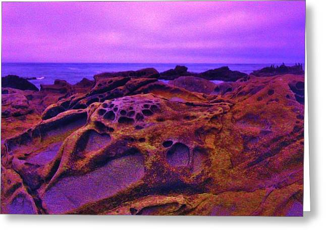 Cold Lava Greeting Card by Sharon Costa