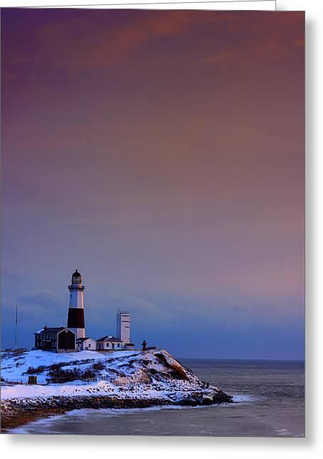 Cold Morning At Montauk Point Greeting Card by Rick Berk
