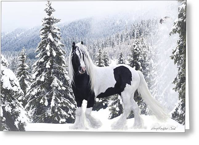 Cold Mountain Greeting Card by Terry Kirkland Cook