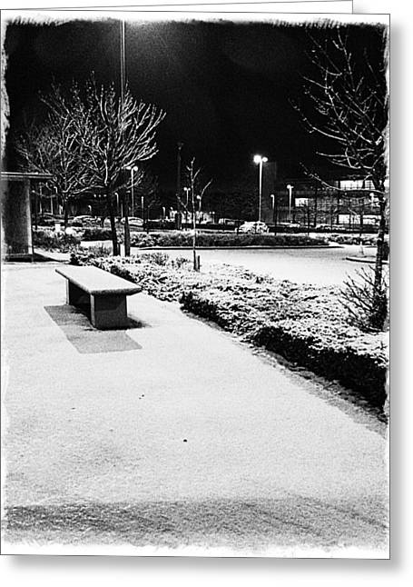 Cold Nights Journey Home Greeting Card by Andrew Allsopp