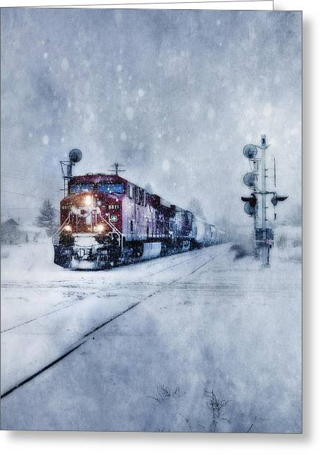 Cold Nights On The Midnight Train Color Greeting Card