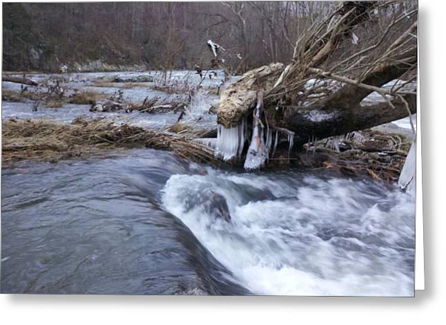 Cold River  Greeting Card by Kiara Reynolds
