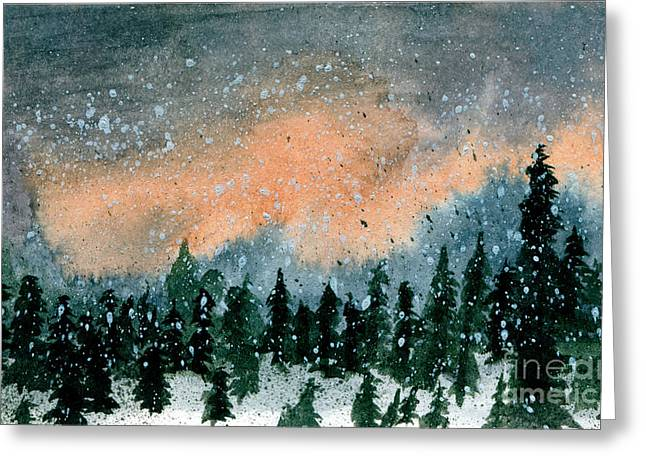 Cold Snow At Twilight Greeting Card by R Kyllo