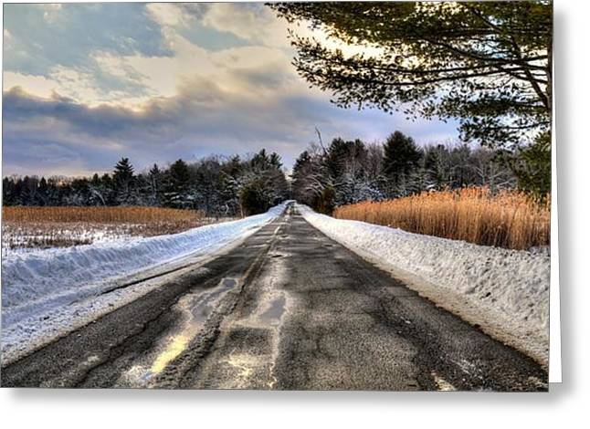 Cold Spring Road - Berkshire County Greeting Card
